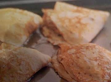 Ham, Mushroom and Cheese Crepes