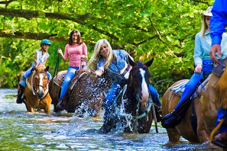 Photo: Horse Back Ride on Dillard House property in the little TN river