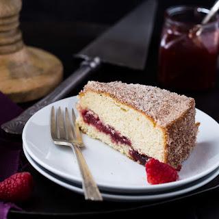 Raspberry Jelly Donut Coffee Cake