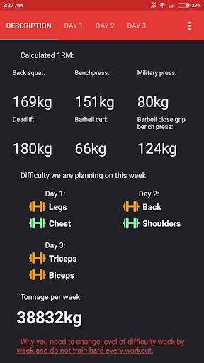 SmartFit - Gym Personal Trainer, Strength training  screenshots 3