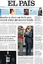 Photo: Bruselas se alinea con Berlín para retrasar planes que necesita España, el Rey aborda a Rajoy en el desfile militar para hablar sobre Cataluña y medio millón de alumnos se quedan sin ayudas para libros de texto, en nuestra portada del sábado 13 de octubre http://srv00.epimg.net/pdf/elpais/1aPagina/2012/10/ep-20121013.pdf