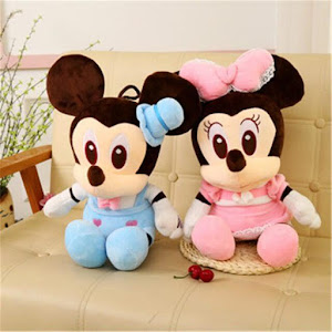 Jucarie de plus Mickey Mouse sau Minnie Mouse