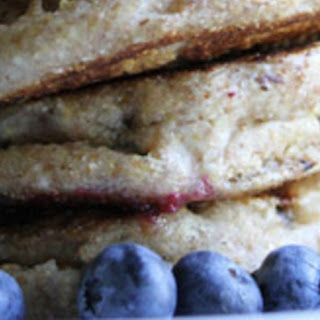 Spelt-Blueberry Pancakes.