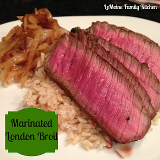 Marinated London Broil.