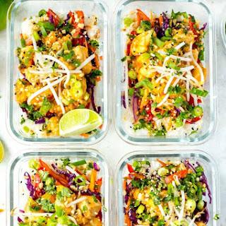 Sweet Chili Thai Chicken Meal Prep Bowls.