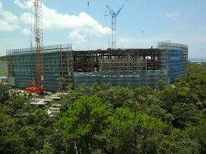 Photo: Lab building under construction.