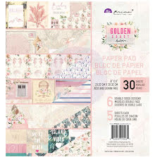 Prima Double-Sided Paper Pad 8X8 30/Pkg - Golden Coast UTGÅENDE