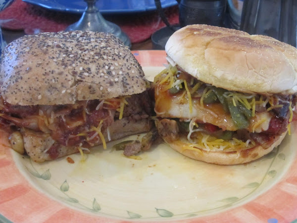 Jamie's Grilled Bacon Liver Cheese Burger Sammie Recipe