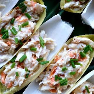 {Healthy Holidays} Crab Salad Stuffed Endive.