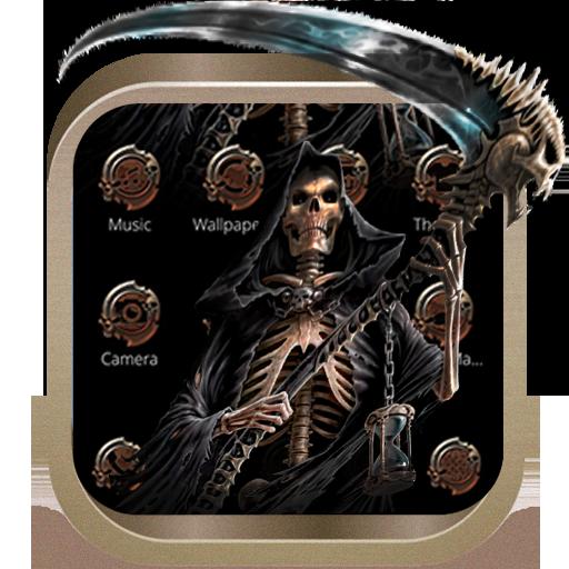 grim Reaper theme lock screen one Skeleton