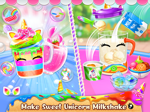 Unicorn Food Bakery Mania: Baking Games android2mod screenshots 5
