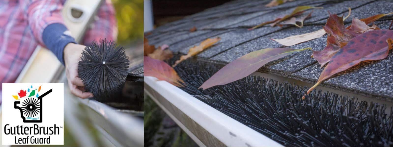 GutterBrush Leaf Guard Installed