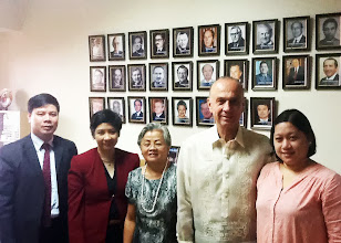 Photo: 22 August 2013 - Visit to the IAFEI Secretariat Office in Makati with (R-L) Bach Nguyen, Lynn Angeles, Conchita Manabat, Luis Ortiz-Hidalgo, and Abby Buenaventura