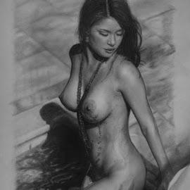 by Ashwini Dey - Drawing All Drawing ( art )