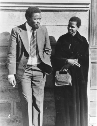 STRUGGLE ICON: The founding father of Black Consciousness, Steve Biko, with his comrade Mamphela Ramphele.Pic. Unknown  Biko, steve (ramphele, mamphela)