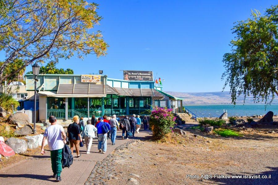 Месада «Сан-Петрус» - ресторанчик на берегу озера Кинерет. Экскурсия по Галилее Христианской.