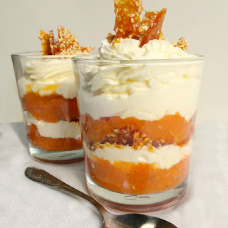 Pumpkin Parfait With Sesame Praline