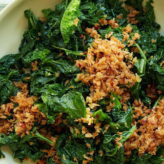 SautéEd Kale and Garlicky Bread Crumbs Recipe