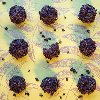 Raw Chocolate Hedgehog Truffles with Cacao Nibs