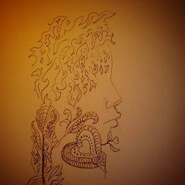 zentangled lady by Paul Wante - Drawing All Drawing ( art, lady, traditional, zentangle, drawing )