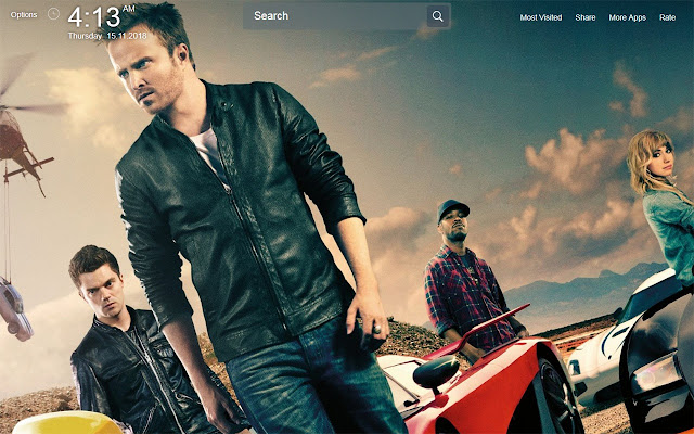 Need For Speed Game Wallpapers Theme New Tab