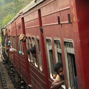 Sri Lanka by train by Mylene Rizzo - Transportation Trains ( oldtrain, trainstation, people, train, srilanka )