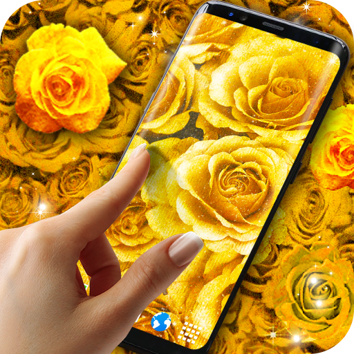 Golden Roses Live Wallpaper