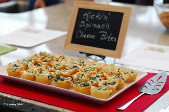 Photo: Kickin' Spinach Cheese Bites (http://www.pillsbury.com/recipes/kickin-spinach-cheese-bites/03066e38-efdb-4355-aef1-23dbe340042d?src=SH)