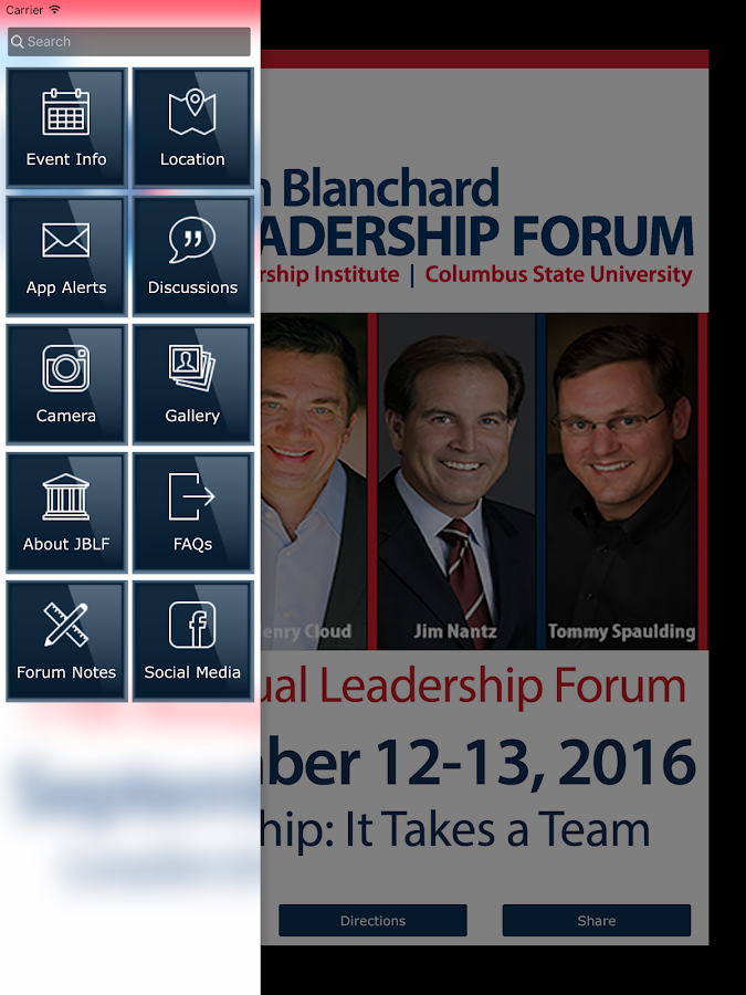 Jim Blanchard Leadership Forum- screenshot