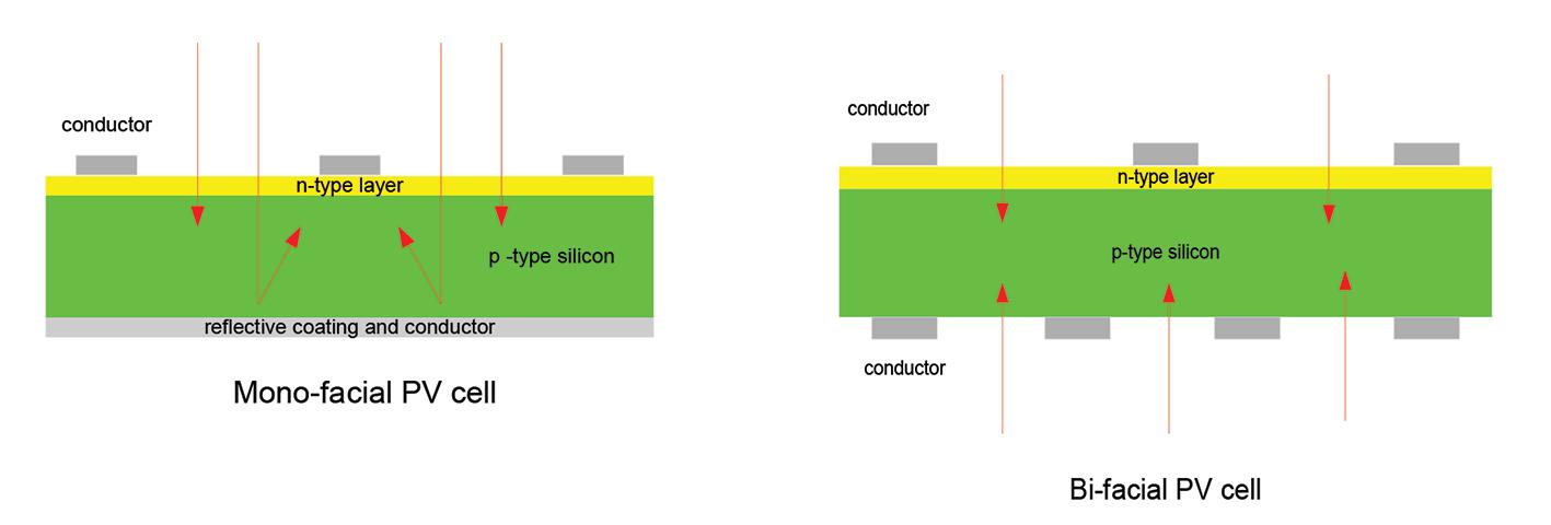 Mono-facial vs Bi-facial Solar panels