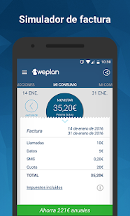 Weplan: Consumo datos y voz Screenshot