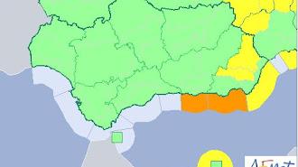 Alerta naranja este jueves en Almería y Granada.