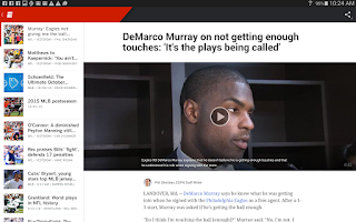 Screenshot of ESPN