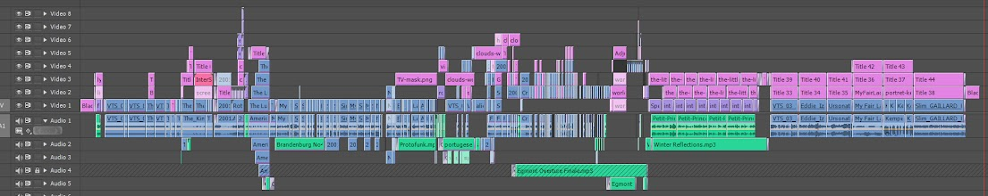 Photo: Timeline Adobe Premiere InterScreech Video Julie Meitz 2013
