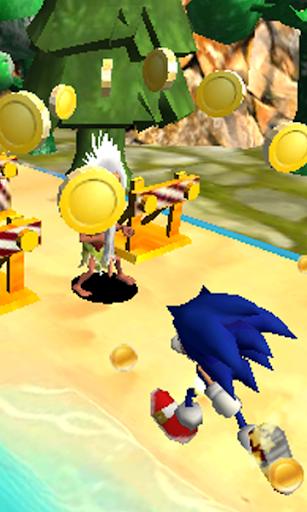 Blue Hedgehog Run : Dash Adventure android2mod screenshots 1