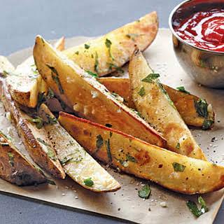 "Garlic-Parsley Steak ""Fries""."
