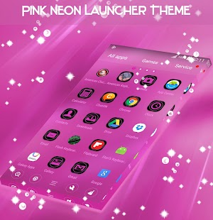 Pink Neon Launcher Téma - náhled