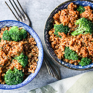 Broccoli Bulgur Pilaf.