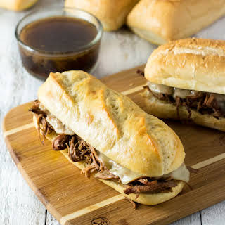 Easy Crock Pot French Dip Sandwiches.