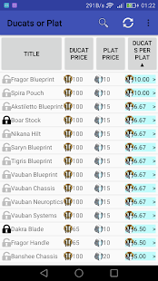 Ducats or Plat for Warframe - náhled