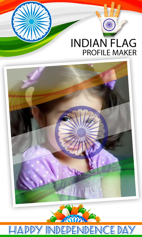 Indian Flag on Face Maker