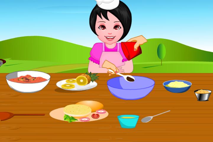 android Girls Cooking-Burger Screenshot 2