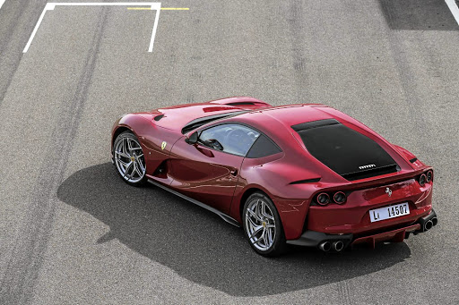 The rear is a work of art, incorporating a few historical cues. Picture: FERRARI