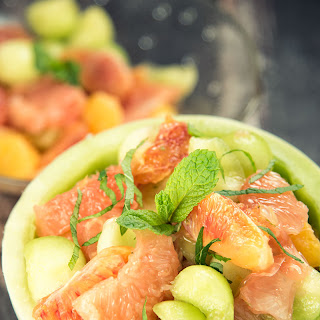 Grapefruit, Melon, And Orange Salad.