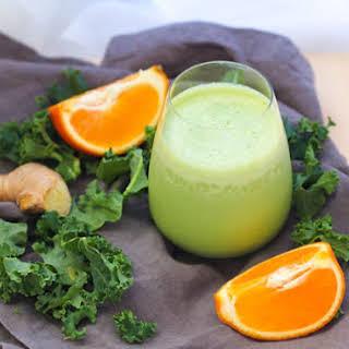 Orange-Ginger Green Smoothie.