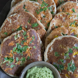 Uttapam with Cilantro Coconut Chutney from The Ultimate Vegan Cookbook for Your Instant Pot.