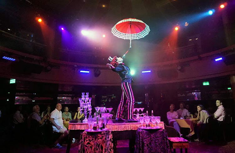 Part of the eye-popping entertainment at Cirque Dreams Epicurean.