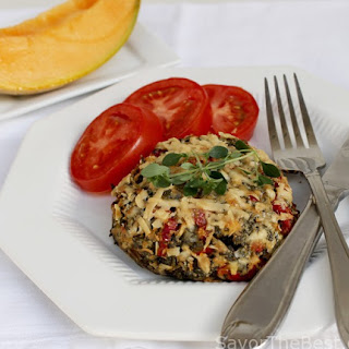 Stuffed Portobello Mushrooms with Feta Cheese