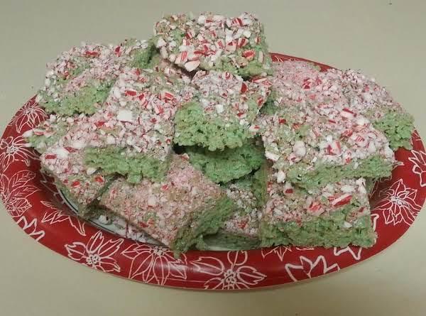 Candy-cane Rice Krispy Treats Recipe
