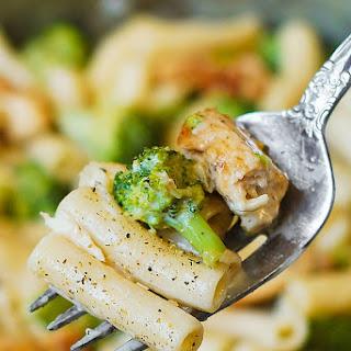 Chicken Broccoli Alfredo Pasta.
